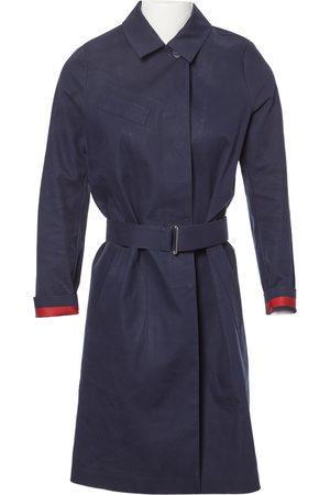 Lacoste Navy Cotton Coats