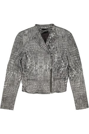 Gestuz Grey Leather Leather Jackets