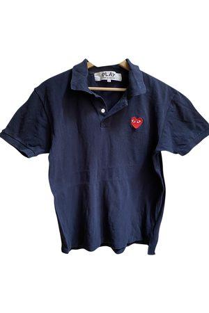 Play Comme des Garçons Navy Cotton Polo Shirts