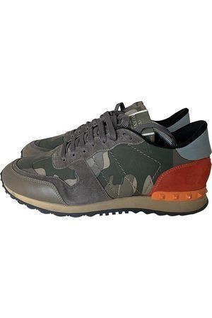 VALENTINO GARAVANI Khaki Leather Trainers