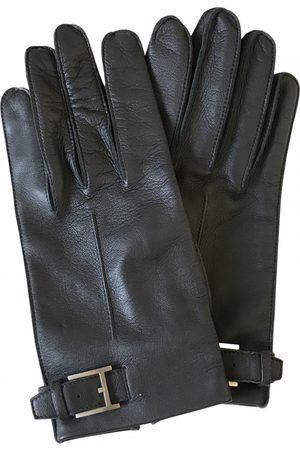 Hermès Grey Leather Gloves