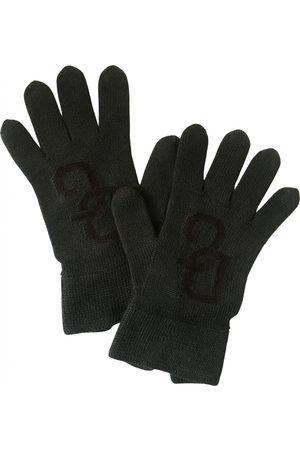 Dolce & Gabbana Women Gloves - Anthracite Wool Gloves