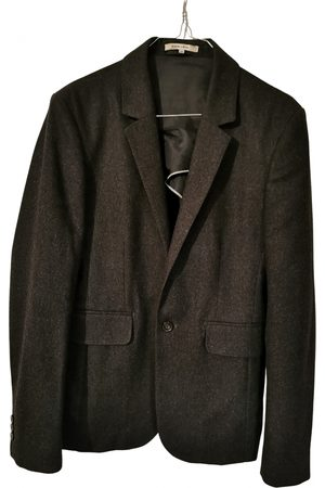 Carven Anthracite Wool Jackets