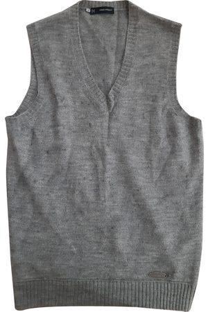 Dsquared2 Men Sweatshirts - Grey Cotton Knitwear & Sweatshirts