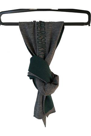 DIRK BIKKEMBERGS Grey Wool Scarves & Pocket Squares
