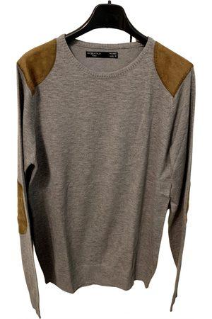 Piazza Italia Grey Cotton Knitwear & Sweatshirts