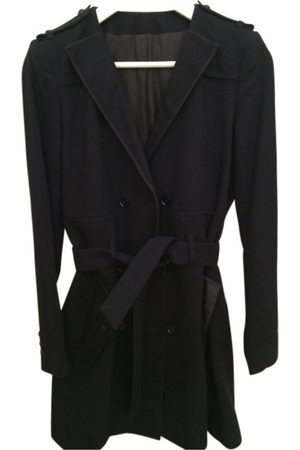 The Kooples Navy Cotton Trench Coats