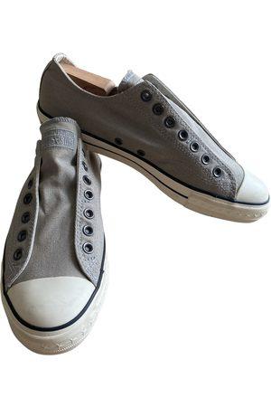 John Varvatos Grey Cloth Trainers