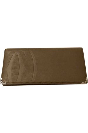 Cartier Khaki Leather Small Bags\, Wallets & Cases