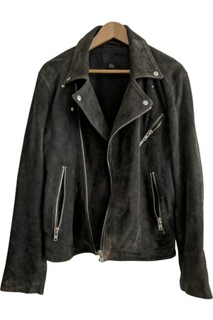 H&M Grey Leather Jackets