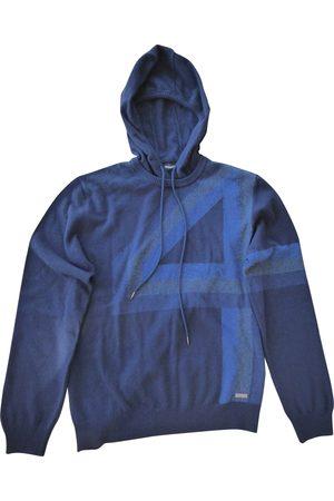 DIRK BIKKEMBERGS Navy Wool Knitwear & Sweatshirts