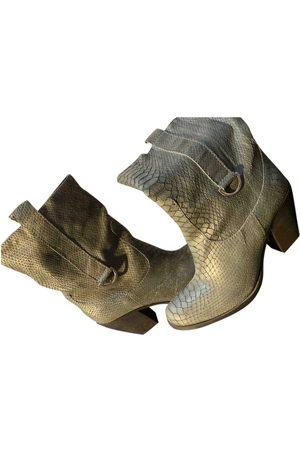 Cop Copine Grey Leather Boots