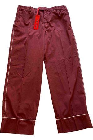 THE GIGI Burgundy Cotton Trousers