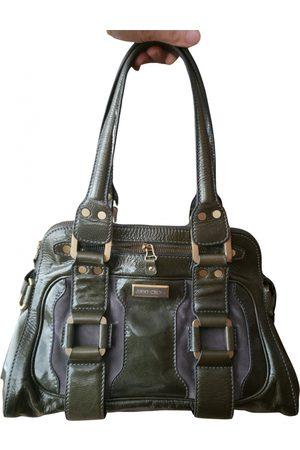 Jimmy Choo Khaki Patent leather Handbags