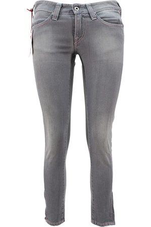 Evisu Women Jeans - Grey Cotton - elasthane Jeans