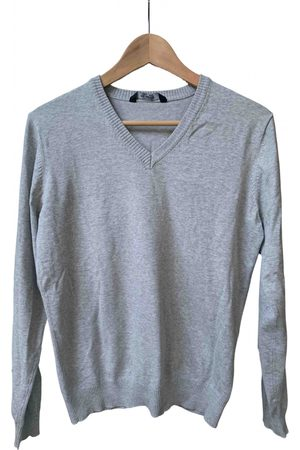 Pull&Bear Grey Cotton Knitwear & Sweatshirts
