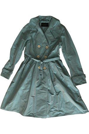 RAMOSPORT Women Coats - Turquoise Polyester Coats