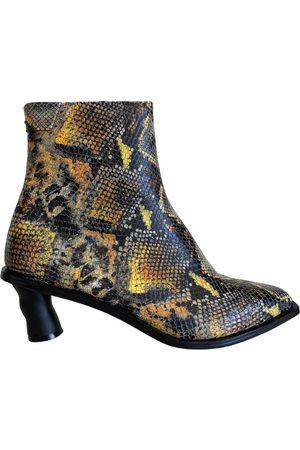 Reike Nen Multicolour Python Ankle Boots