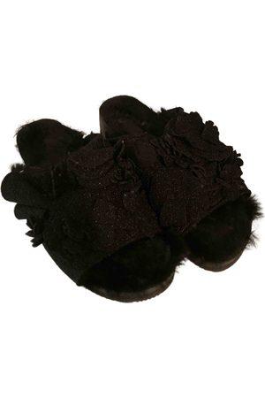 SUECOMMA BONNIE Faux fur flip flops