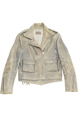 Zadig & Voltaire Grey Leather Jackets
