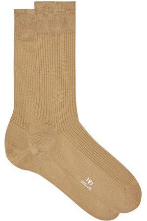 Doré Doré Ribbed Cotton-lisle Socks - Mens