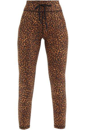 The Upside Leopard-print Cropped Leggings - Womens - Animal