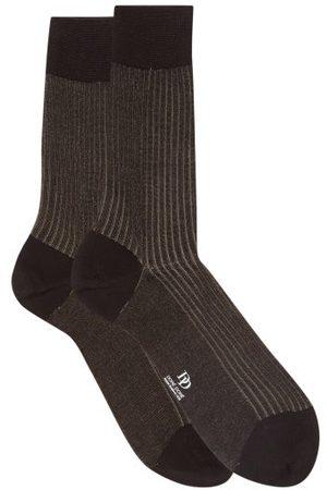 Doré Doré Metallic Ribbed Cotton-lisle Socks - Mens