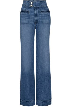 Frame Le Hardy High-rise Wide-leg Jeans - Womens - Mid Denim