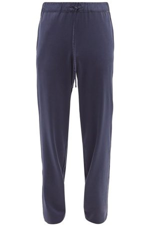 Hanro Night & Day Cotton-interlock Pyjama Trousers - Mens - Navy