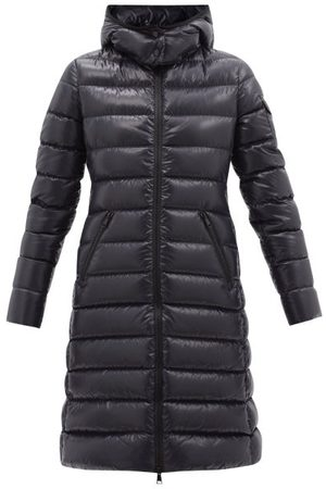 Moncler Moka Quilted-down Hooded Coat - Womens - Navy