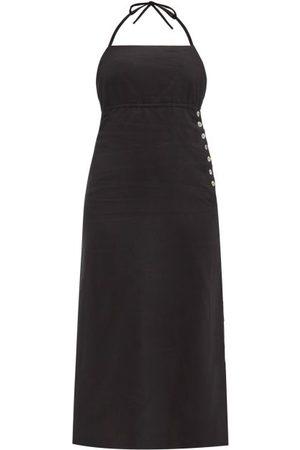 BELIZE Aida Halterneck Linen Dress - Womens