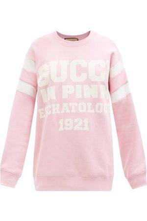Gucci Logo-print Cotton-jersey Sweatshirt - Womens