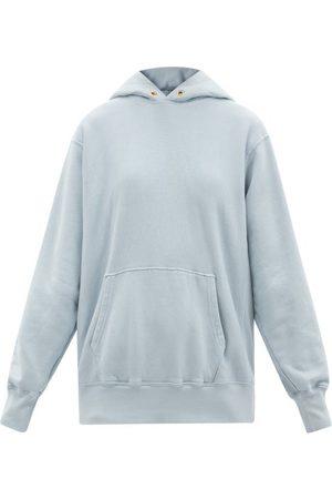 Les Tien Brushed-back Cotton Hooded Sweatshirt - Womens - Light