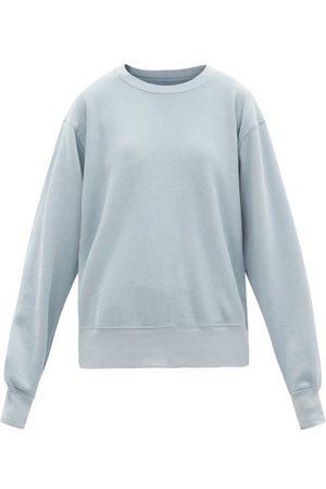 Les Tien Brushed-back Cotton Sweatshirt - Womens - Light