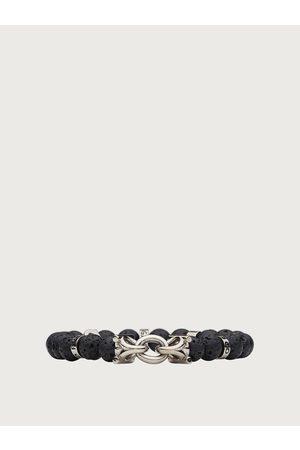 Salvatore Ferragamo Men Elasticated bracelet with Gancini - size S