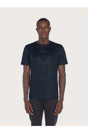 Salvatore Ferragamo Men T-shirts - Men Oversized Gancio T-shirt