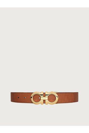 Salvatore Ferragamo Men Reversible and adjustable Gancini belt Grey