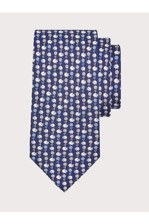 Salvatore Ferragamo Men Neckties - Men Wool print silk tie