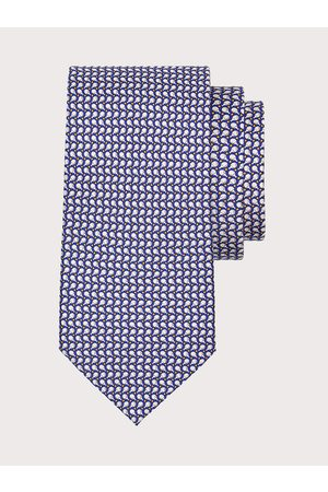 Salvatore Ferragamo Men Ping pong print silk tie