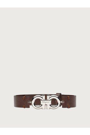 Salvatore Ferragamo Men Leather bracelet with double sided Gancini