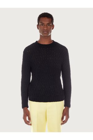 Salvatore Ferragamo Men Sweaters - Men Round neck sweater