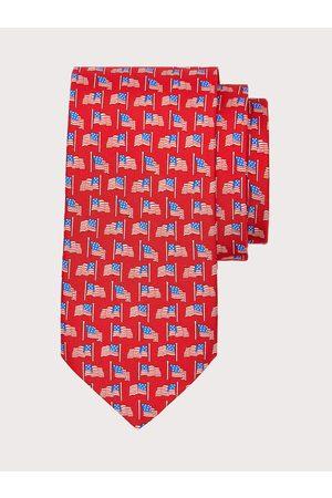 Salvatore Ferragamo Men Neckties - Men Silk tie with USA print