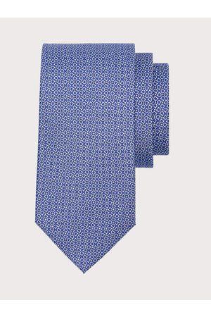 Salvatore Ferragamo Men Neckties - Men Gancini printed silk tie