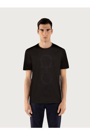 Salvatore Ferragamo Men Polo Shirts - Men Oversized Gancio T-shirt