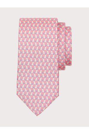 Salvatore Ferragamo Men Neckties - Men Elephant print silk tie