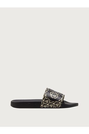 Salvatore Ferragamo Men Sandals - Men Gancini slide Size 6
