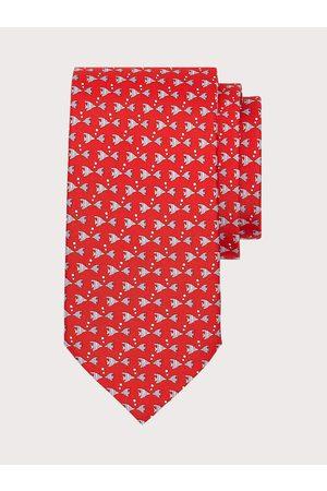 Salvatore Ferragamo Men Neckties - Men Fish print silk tie