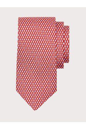Salvatore Ferragamo Men Neckties - Men Silk tie with rugby print