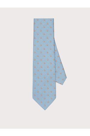 Salvatore Ferragamo Men Gancini print silk tie