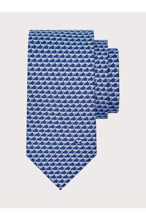 Salvatore Ferragamo Men Silk whale print tie
